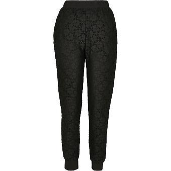 Urban Classics Damen Jogginghose Lace Jersey