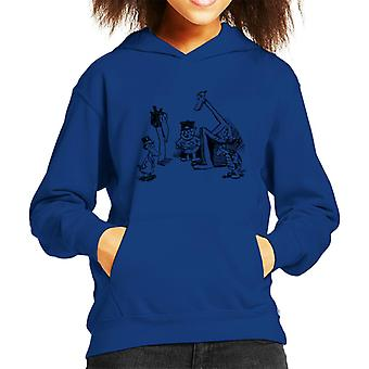 Krazy Kat Huddle Plain Kid's Hooded Sweatshirt