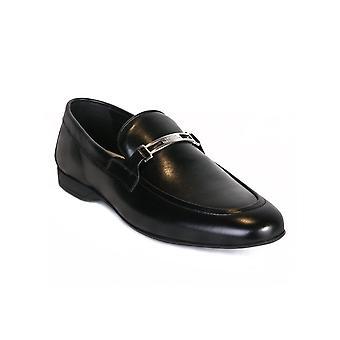 Versace Collection Leder Loafer Schwarz