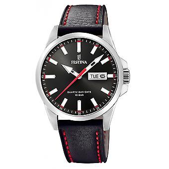 Festina F20358-4 Hombres's Reloj de pulsera de cuero negro