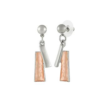 Eternal Collection Contempo Two Tone Drop Pierced Earrings
