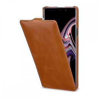 Etui Pour Samsung Galaxy Note 9 Ultraslim En Cuir Véritable Cognac