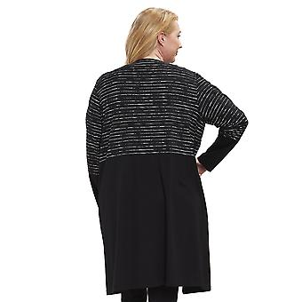 Rösch 1194620-16518 Women's Curve Jet Black Striped Lounge Jacket