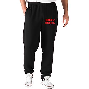 Pantaloni tuta nero tam0106 krav maga