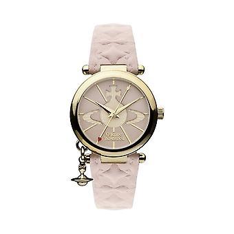 Vivienne Westwood Vv006pkpk Orb Ii Gold & Pink Leather Ladies Watch