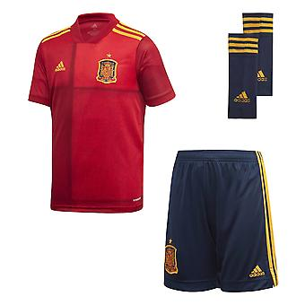 adidas Spain 2020/21 Youth Kids Football Soccer Home Kit Red