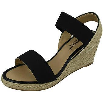Las señoras Savannah cuerda alta cuña sandalias F10865