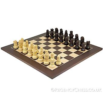 Richard the Lionheart Two Tone Wenge Chess Set
