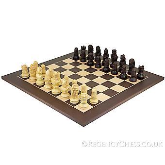 Richard de Leeuwenhart tweetonige Wenge schaakbord
