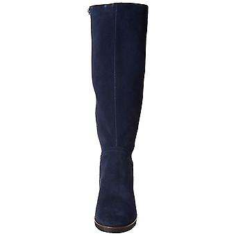 Aerosoles Women's Binocular Knee High Boot, Dark Blue Suede, 8.5 M US