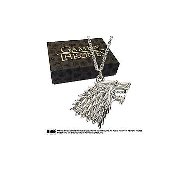 Stark Sterling Silver Pendant Prop Replica from Game Of Thrones