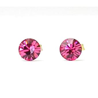 The Olivia Collection Sterling Silver Swarovski Rose Stud Earrings