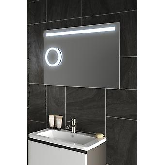 Lustre Magnification Bathroom Mirror with Sensor and Demister pad