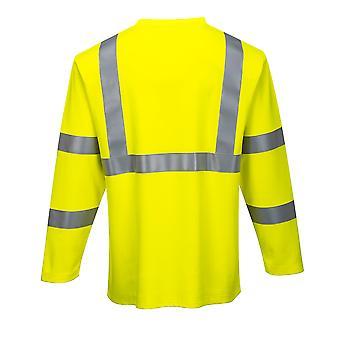 sUw - مرحبا فيس ملابس العمل طويلة الأكمام النار مقاومة تي شيرت