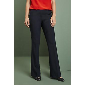 SIMON JERSEY Women's Qualitas Bootleg Trousers, Dark Navy