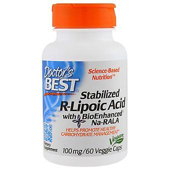 Gestabiliseerde R-lipoic acid 100 mg (60 Veggie Caps)-arts ' s beste