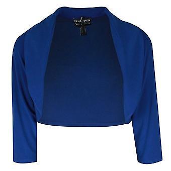 Frank Lyman Blue Long Sleeve Jersey Bolero