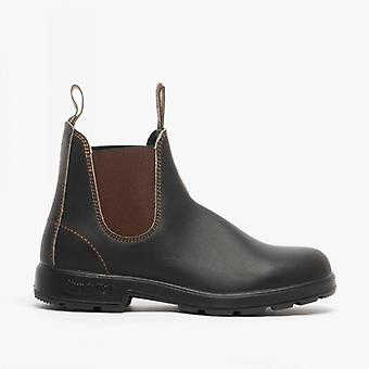 Blundstone 500 Unisex Leather Classic Chelsea Boots Stout Brown