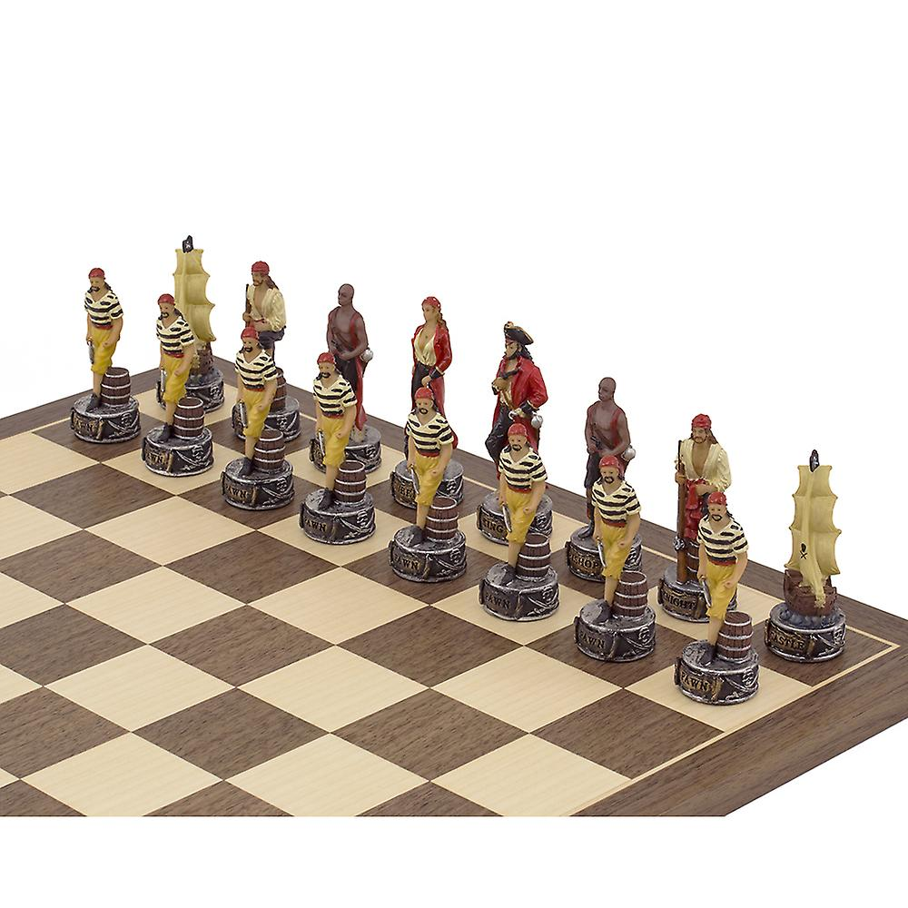 The Pirates Vs Navy Hand painted themed Chess set by Italfama