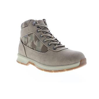 Lugz Rally Mens Gray Nubuck Leather Camouflage High Top Casual Dress Boots
