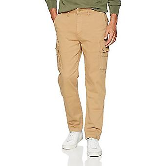 Levi's Men's Slim Taper Cargo Pant, Earth Khaki/Authentic wash Stretch, 42W x...