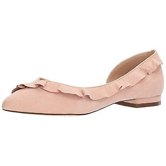 Callisto Womens lyra Almond Toe Slide Flats
