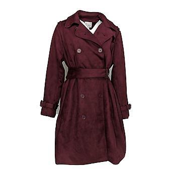 Linea by Louis Dell'Olio Women's Plus Faux-Suede Coat Purple A370421