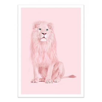 Art-Poster - Pink Lion - Paul Fuentes