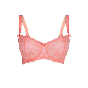 LingaDore 5041A1-11 Women's Salema Coral Pink Lace Underwired Balcony Bra