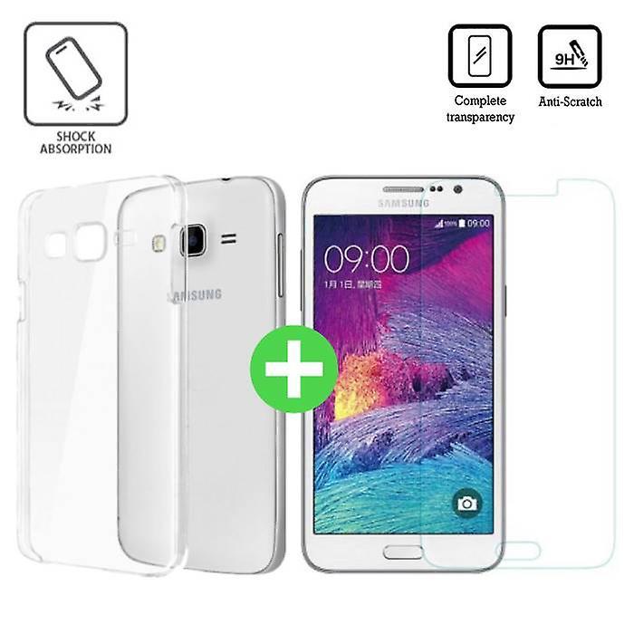 Stuff Certified® Samsung Galaxy Prime J7 2016 Transparent TPU Case + Screen Protector Tempered Glass