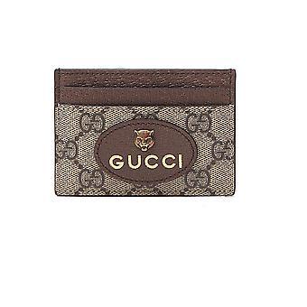 Gucci 597557k9got8861 Men-apos;s Beige Leather Card Holder