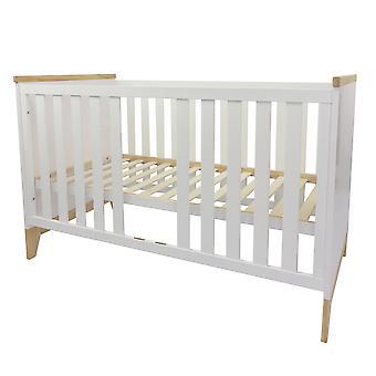 Baby cot Ida, bianco, 140x70 cm
