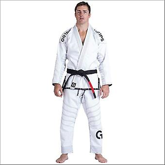 Gr1ps armadura big-g bjj gi hvit