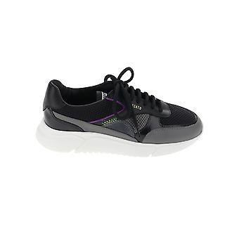 Axel Arigato 84034svartgrå violett Kvinnor&s Black Leather Sneakers