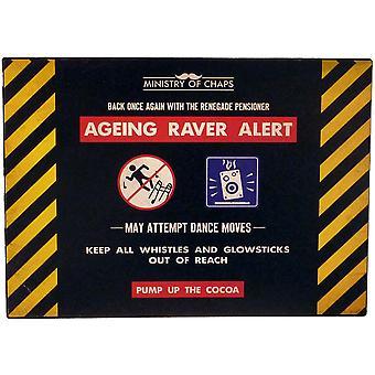 Envelhecimento Raver alerta Metal assinar - Ministério de rachaduras por Harvey Makin - placa engraçada