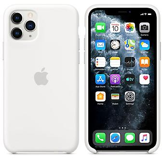Originalverpackung MWYL2ZM/A Apple Silikon Mikrofaser Cover Hülle für iPhone 11 Pro - weiss