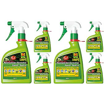 Schaars: 6 x COMPO Lawn Weed Killer Banvel® Quattro AF, 1000 ml
