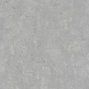 A.S. Creation AS Creation Industrial Stone Concrete Wallpaper Metallic Light Grey