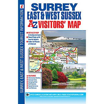 Surrey East & West Sussex Visitors Map (26th Revised edition) by Geog