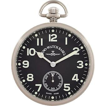 Zeno-Watch - Pocket Watch - Heren - Lepine Pilot 3533-a1-matt