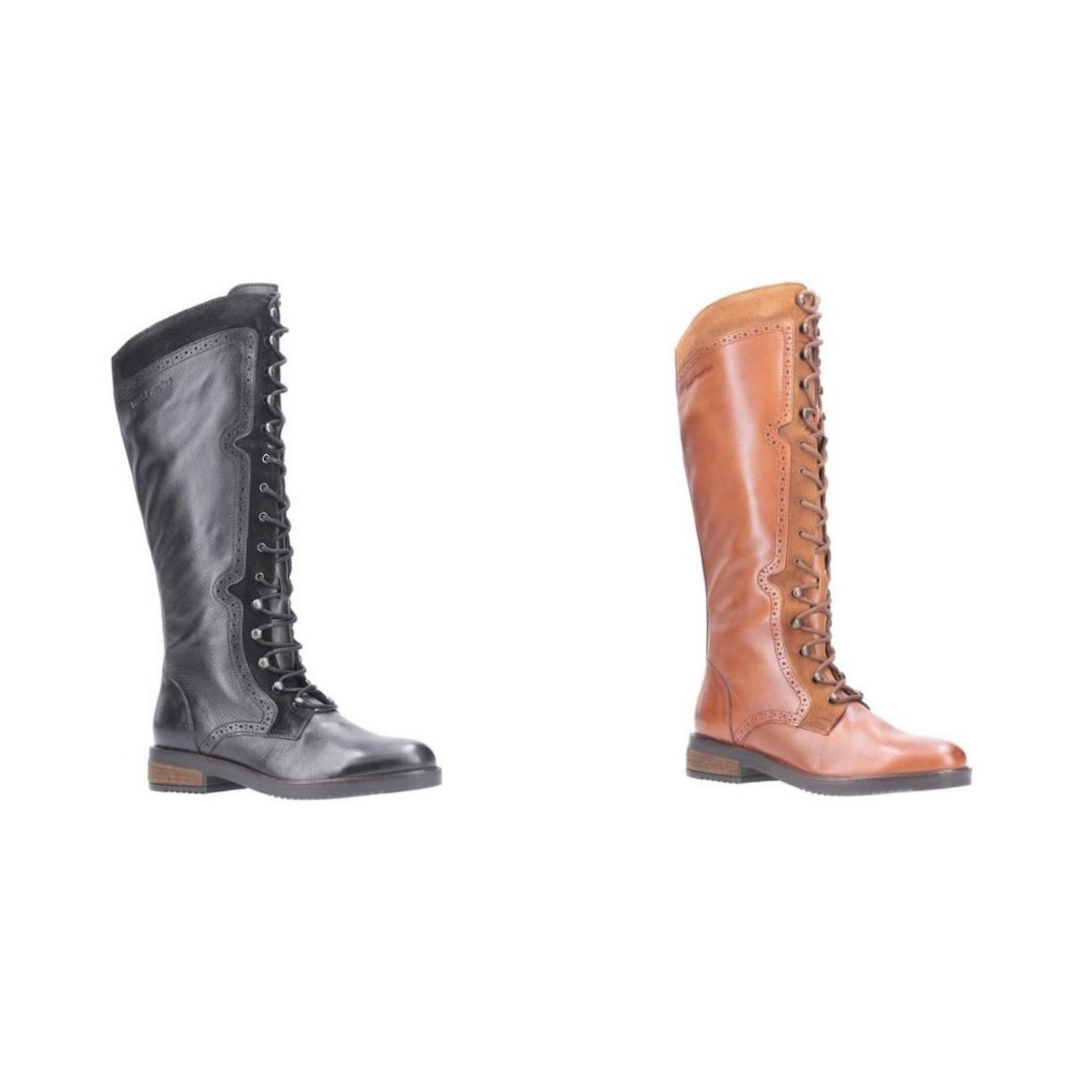 Hush Puppies Womens/Ladies Rudy Lace Up Long Leather Boot zhcZ2