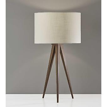 Lámpara de mesa de madera de nogal triple