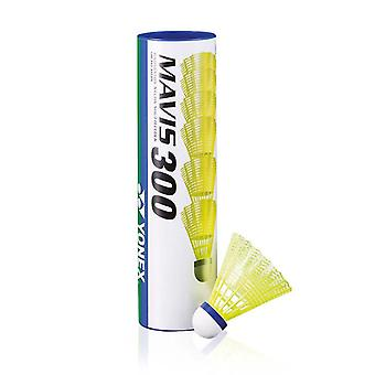Yonex Mavis 300 Badminton Shuttlecocks Shuttles (Tube of 6) Yellow