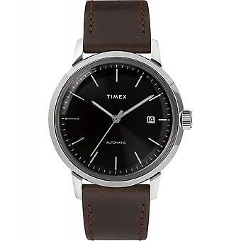 Timex TW2T230007 Marlin Automatyczny zegarek na rękę Czarna tarcza