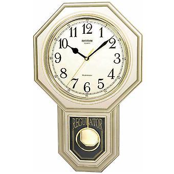 Rhythm 7543/9 Wall clock Quartz with pendulum golden pendulum clock with melody