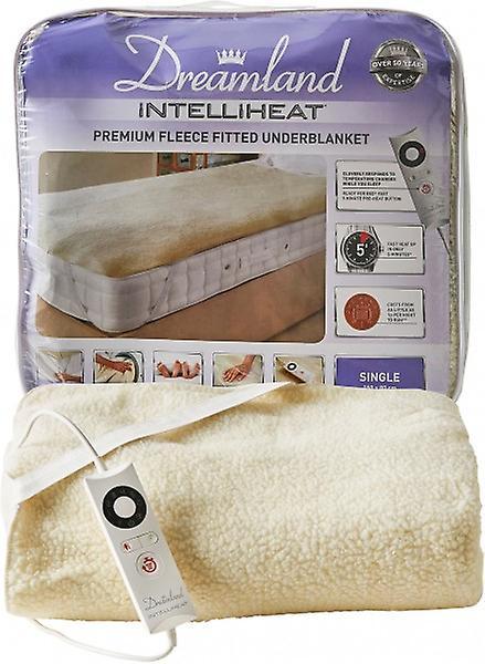 Dreamland Intelliheat Single Size Fleece Electric Heated Under Blan...