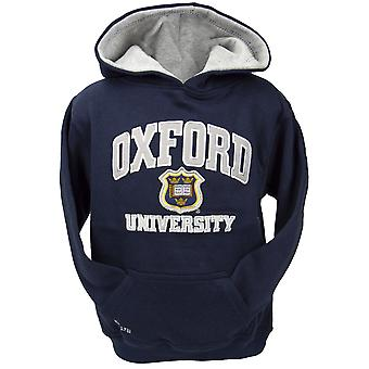 Ou129k kids licensed unisex oxford university™ hooded sweatshirt navy