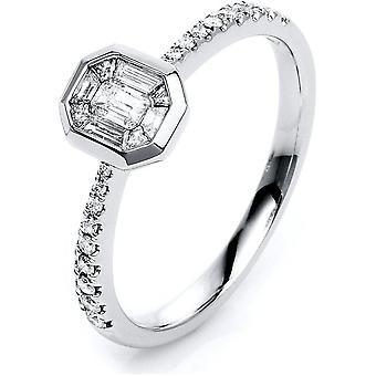 Bague Diamond - 14K 585/- Or blanc - 0,38 ct. - 1K312W454 - Largeur de l'anneau: 54