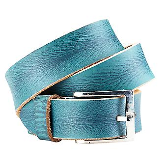 Bradley crompton unisex blue leather casual belt bcfb4