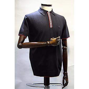 Gabicci Vintage Casino Gauze Knitted Polo Shirt